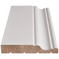 Doras  Java White Architrave Prelacquered - Traditional Edge