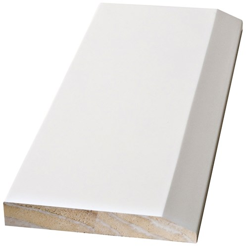 Doras  Java White Skirting Prelacquered - Chamfered Edge