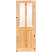 Doras  Rio Knotty Pine Frosted Glass Door - 44mm
