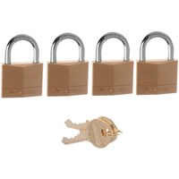 Master Lock  Brass Padlock - 4 x 40mm