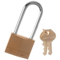 Master Lock  Brass L Shackle - 40mm