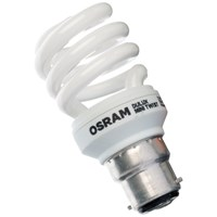 Osram  CFL Mini Spiral Light Bulb - 12W BC