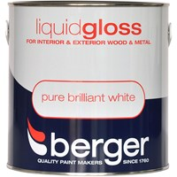 Berger  Liquid Gloss Brilliant White Paint - 2.5 Litre