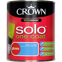 Crown Solo One Coat Gloss Colours Paint - 750ml