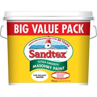 Sandtex Microseal Ultra Smooth Masonry Paint Brilliant White - 12 Litre