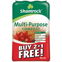 Shamrock  Multi-Purpose Compost 75 Litre - Buy 2 Get 1 Free