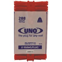 Rawlplug Uno Red Plug - 288 Pack