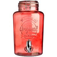 Kilner  Red Drinks Dispenser - 5 Litre