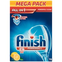 Finish  All-in-1 Powerball Lemon Sparkle Dishwasher Detergent - 78 Tablets