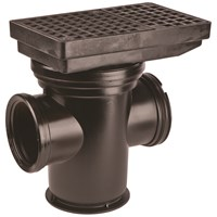 Wavin  Bottle Gully with square open & Vertical Inlet Gratings - 110mm