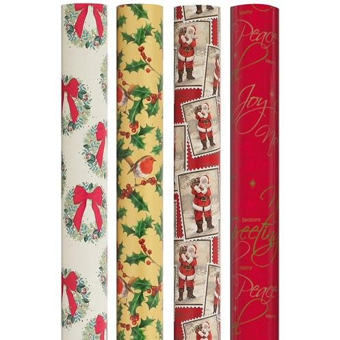 Anker  Christmas Wrapping Paper Traditional Design - 8m