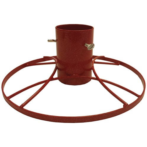 Bosmere  Contemporary Red Metal Christmas Tree Stand - 4in