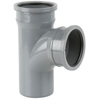 Brett Martin  Double Socket 92.5° Soil Pipe Branch Without Bosses - 110mm