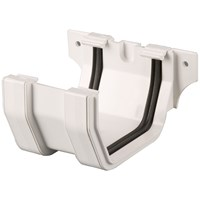 Brett Martin  White Squarestyle Join/Union Bracket - 114mm