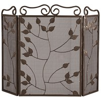 Sirocco The Collection 3 Fold Leaf Firescreen - Grey