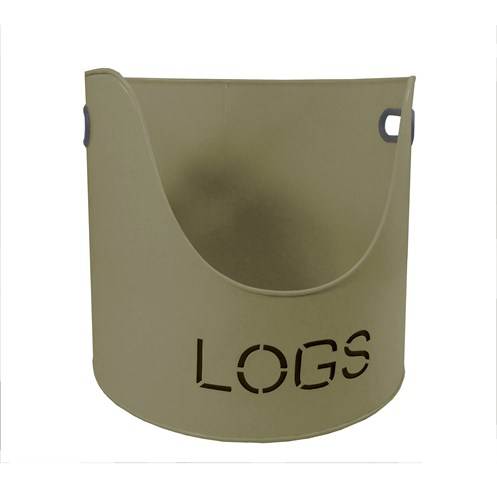 "Sirocco The Collection ""Logs"" Bucket Green - 37cm"