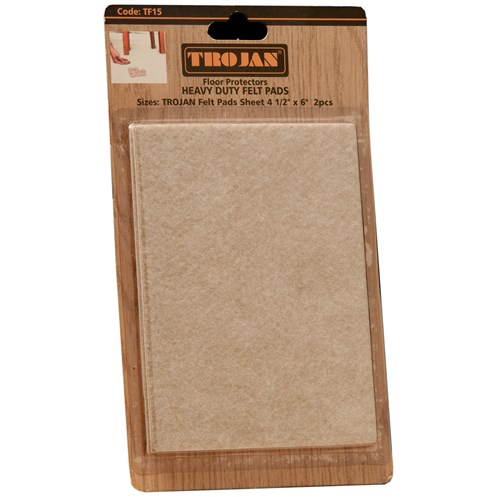 Trojan  Felt Pads Sheet - 2 Pack