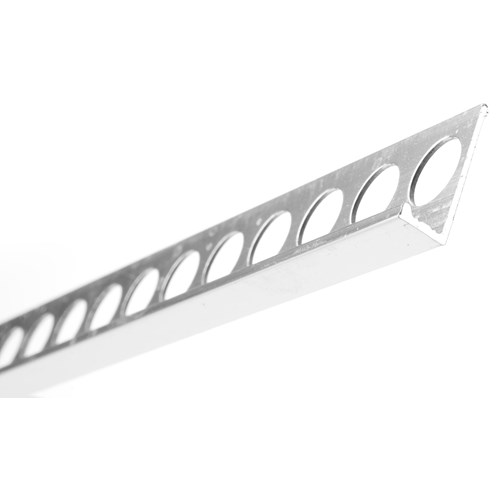 Trojan  Straight Edge Tile Trim 2500mm - Silver Polished