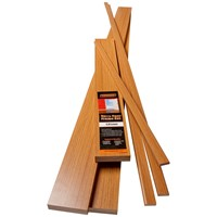 Trojan  Novo Door Frame Set 131mm - White Oak