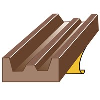 Exitex  Brown E Strip Draught Excluder - 5m