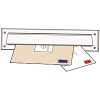 Exitex  Letterplate Seal & Flap - White