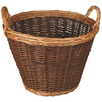 JVL  Willow Log Basket Lined