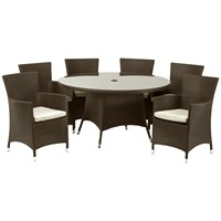 Royalcraft  Cannes Rattan 6 Seater Round Furniture Set