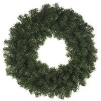 Festive  Green Christmas Display Wreath - 80cm