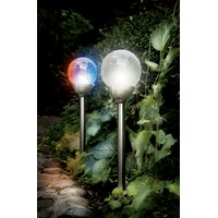 Cole & Bright  Solar Stainless Steel Ice Orb Border Light