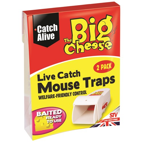 The Big Cheese  Live Catch Mouse Trap - Twinpack