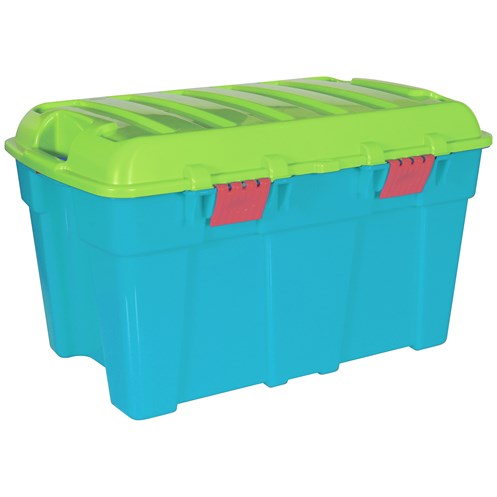 Wham  Storage Trunk Blue/Lime/Raspberry - 49 Litre
