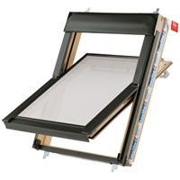 Keylite  Centre Pivot Roof Window with Frosted Glazing - Pine
