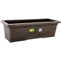 Gardag  Rustic Black & Bronze Trough Planter - 60cm