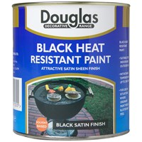 Douglas Decorative Range Black Heat Resistant Paint - 500ml