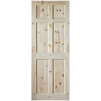 InDoors  Berkley 6 Panel Interior Pine Door - Unfinished
