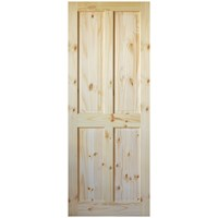 InDoors  Ashford 4 Panel Interior Pine Door - Unfinished
