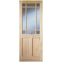 InDoors  Cherbury 11 Panel Interior Glazed Pine Door - Unfinished