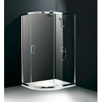 Flair Chianti Central Opening Single Door Offset Quadrant Shower Enclosure