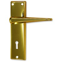 Basta  Glencar Door Handle Clampack - Brass