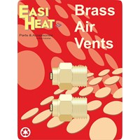 Easi Heat  Brass Air Vent 2 Pack - 1/2in