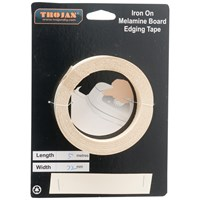 Trojan  Iron on Melamine Edging Tape 5m - Beige