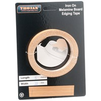 Trojan  Iron on Melamine Edging Tape 5m - Oak