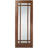 Seadec  Arizona Glazed Prefinished Interior Walnut Door - 813 x 2032 x 44mm