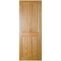 Seadec  Bolection 4 Panel Prefinished Interior Oak Door - 813 x 2032 x 44mm