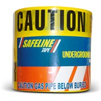 Safeline  Warning Tape 365m - Caution Gas Pipe Below