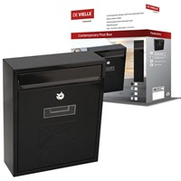 De Vielle  Contemporary Post Box - Black