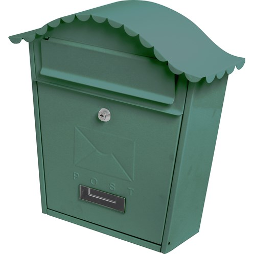 De Vielle  Traditional Post Box - Green