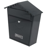 De Vielle  Classic Post Box - Black