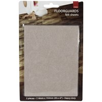 De Vielle  Floor Guard Felt sheet 2 Pack - 114 x 152mm