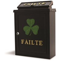 De Vielle  Gold Failte Green Shamrock Diecast Post Box